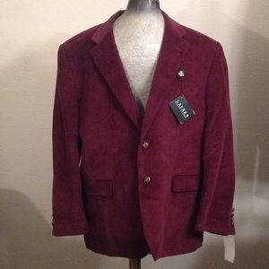 NWT Ralph Lauren corduroy burgundy blazer